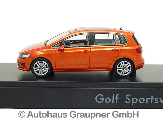 vw golf sportsvan 1 43 habanero orange metallic 2014. Black Bedroom Furniture Sets. Home Design Ideas