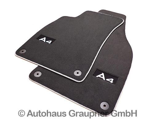 Welp Audi Premium Textilfussmatten Velours Fussmatten vorn A4 8E B6 B7 GS-36
