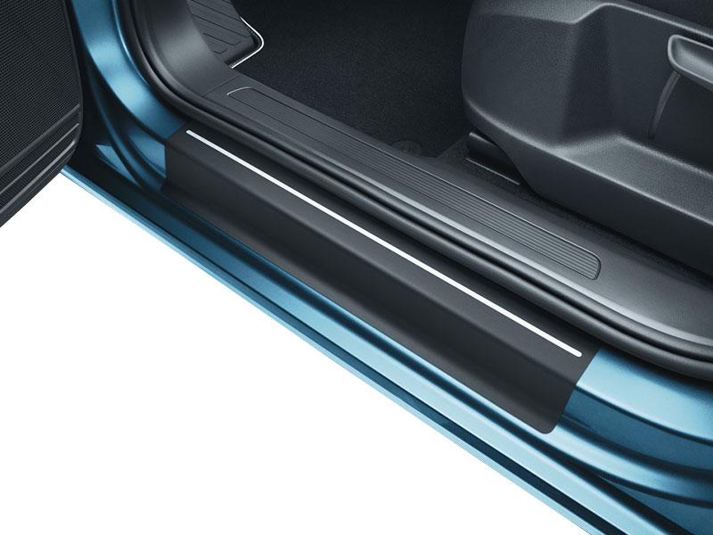 VW Caddy 4  Kombi  Einstiegsleisten Lackschutzfolie Schutzfolie 3D CARBON 2100