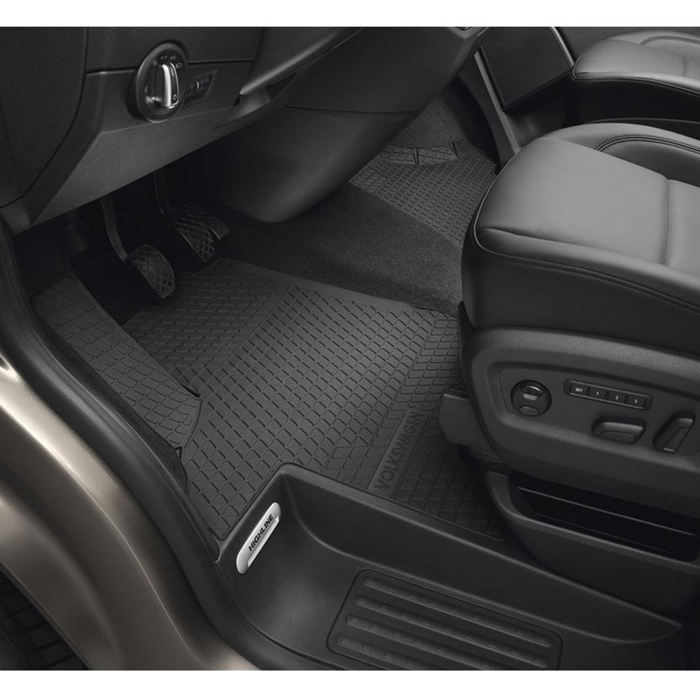 Gummifußmatten für Volkswagen T5 SHUTTLE 2003-2010 2//3Sitze VORNE 3tlg